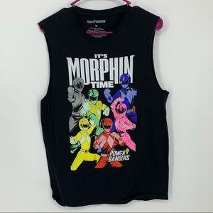 Power Rangers it's morphin time black tank M